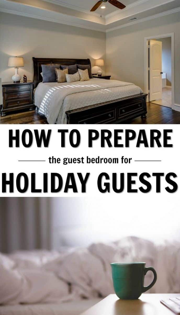 How to prepare your guest bedroom for holiday guests! Tips and tricks to make your guests more comfortable during the holiday season!