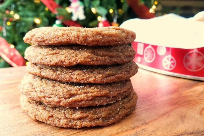Ginger molasses cookie recipe for the holidays.