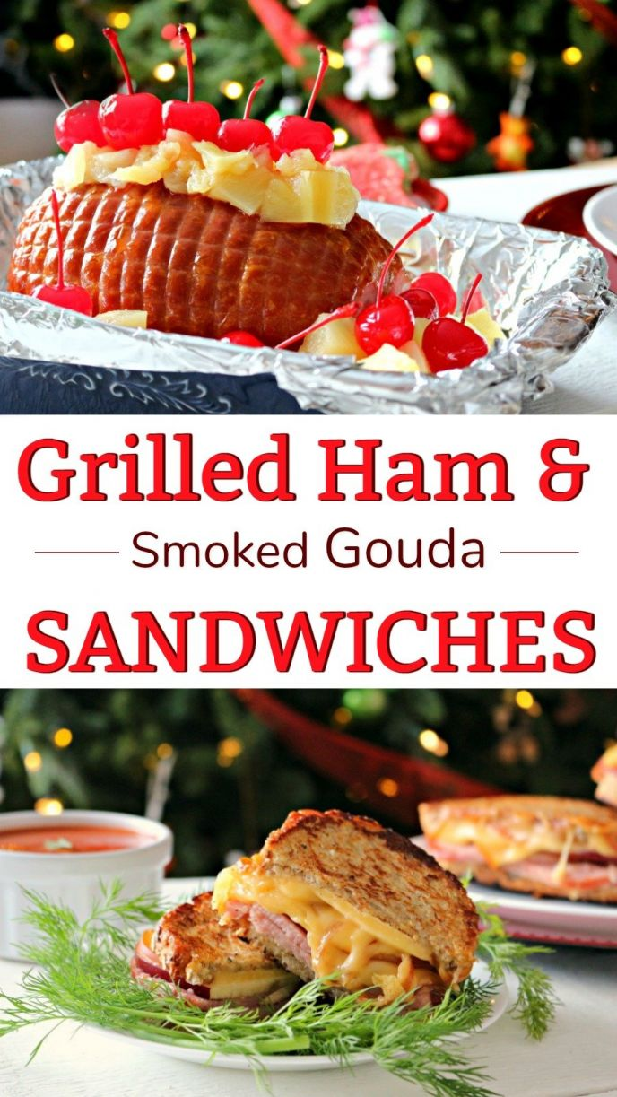 Ham and Smoked Gouda Grilled Cheese Sandwiches! Easy grilled cheese with apples, Hatfield® Uncured Ham and a few other delicious ingredients to make the day after Christmas! An easy sandwich recipe to serve after the holidays and use up your leftover holiday ham! #HolidaysWithHatfield #simplyHatfield #sandwich #food #recipe #grilledcheese