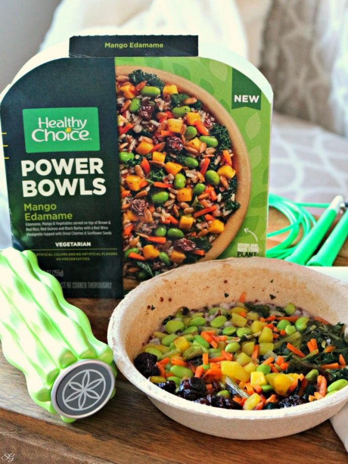Healthy Choice Mango Edamame Power Bowl - Protein Packed Vegetarian Bowl!