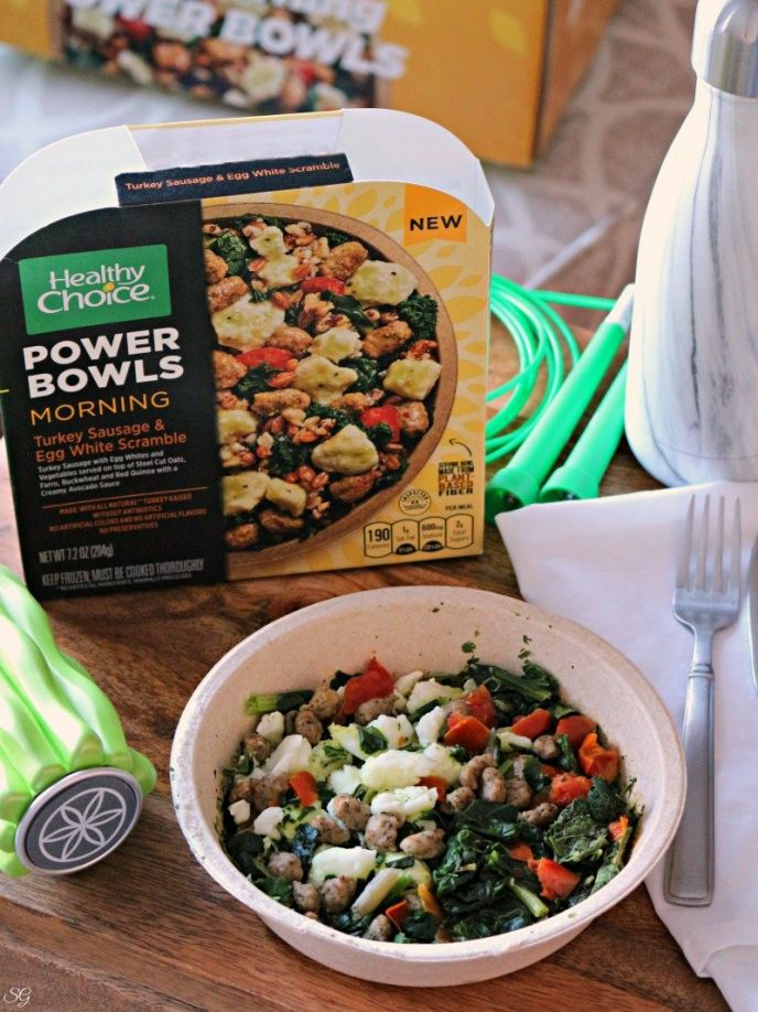 Healthy Choice Morning Power Bowls! Breakfast bowls packed with protein!