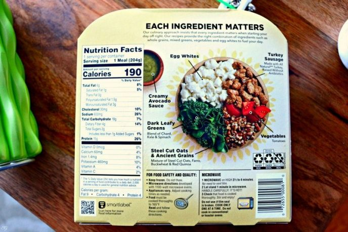 Healthy Choice Morning Power Bowl Nutrition Facts and Ingredients - Healthy Choice Turkey Sausage & Egg White Scramble Power Bowl