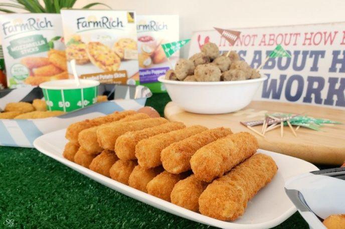Football Snack Food - Farm Rich Mozzarella Sticks