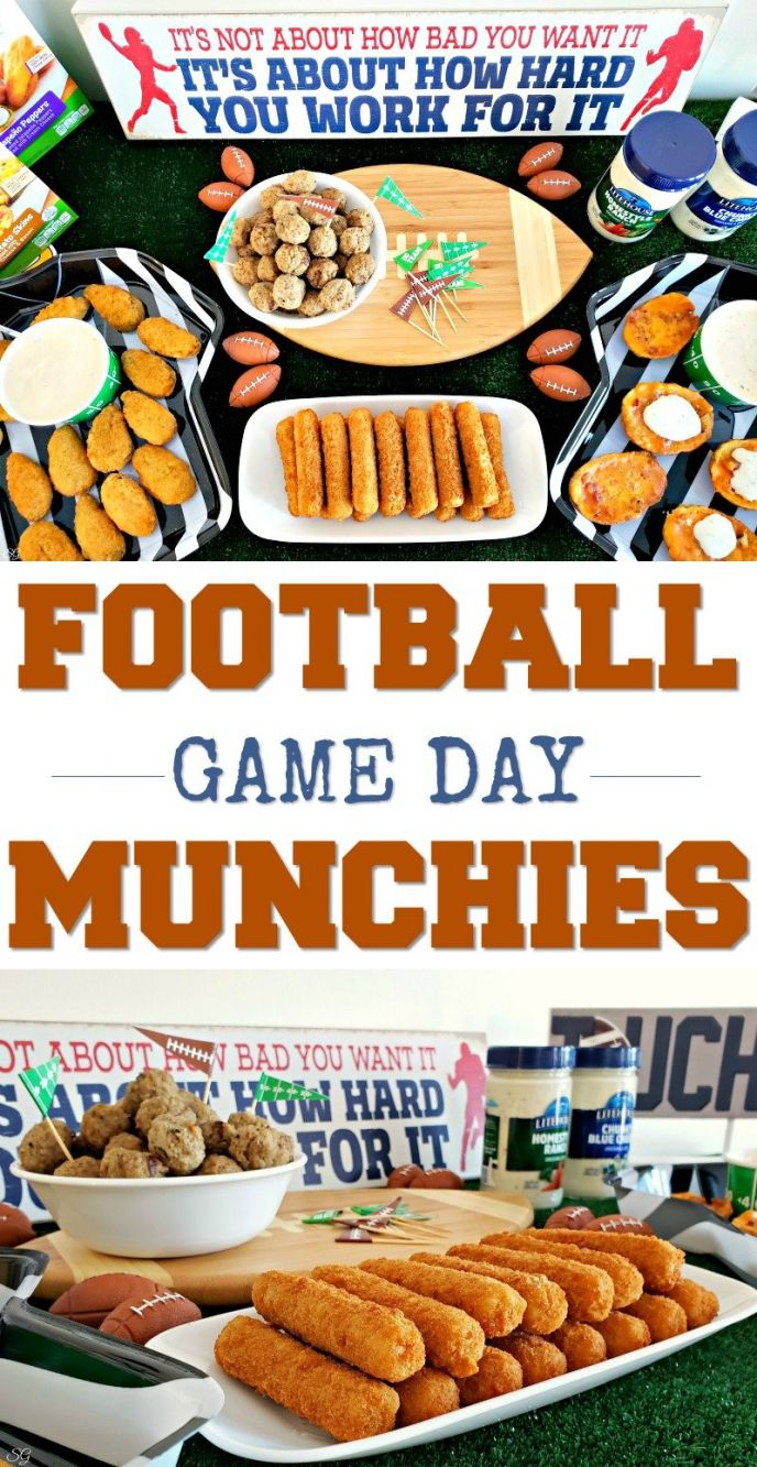 Football Food! Game day munchies for football fans homegating for the big game! CLICK to make you football party a success with these football foods and snacks! #superbowl #HomegatingHero #litehousefoods #football #partyfood #football #footballfood #snack #snacks #footballsnacks #eat #foodie #partyideas #goodeats