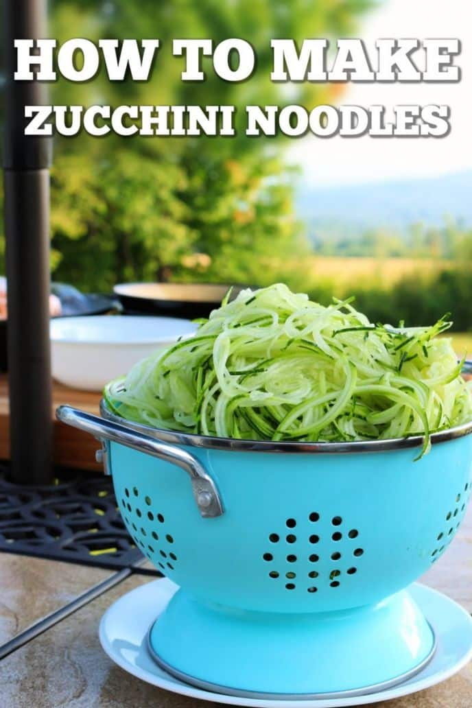 How to make zucchini noodles - zoodles!