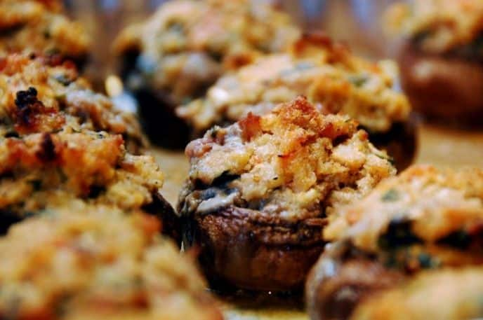 Healthy Air Fryer Appetizers – Stuffed Mushrooms & More!