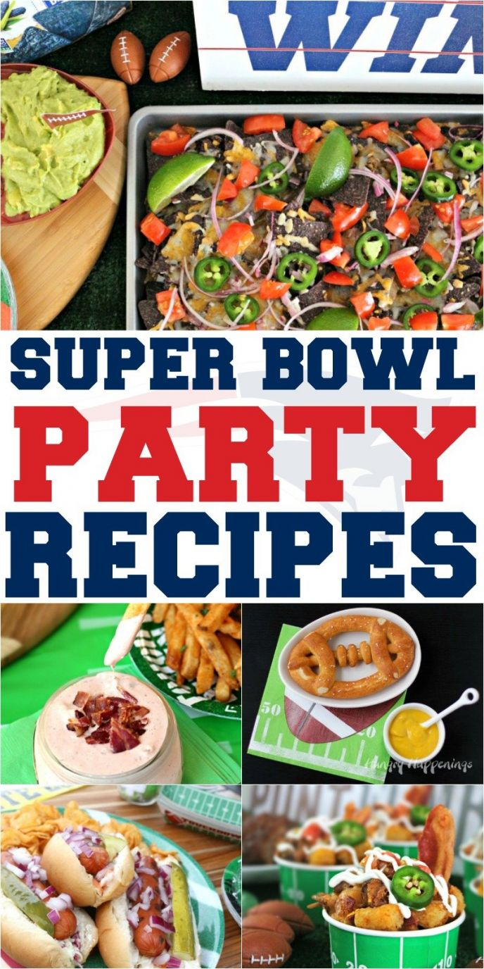 Super Bowl Football Party Recipes! Tailgating, homegating, football Super Bowl party recipes for the game! Score a touchdown with your fans this year and make some of these delicious Super Bowl party foods! #superbowl #superbowlparty #party #partyfood #food #recipes #recipe #football #gameday #biggame #easyrecipes #delish #yum #nomnom