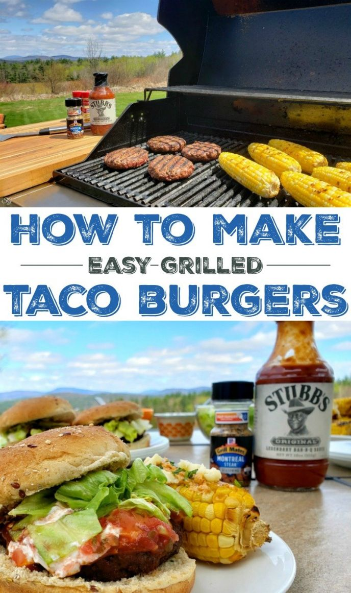 You've got to make these super easy grilled taco burgers for your next taco night! A quick dry rub with McCormick® Herbs and Spices and you're ready to go! Chow down everyone!