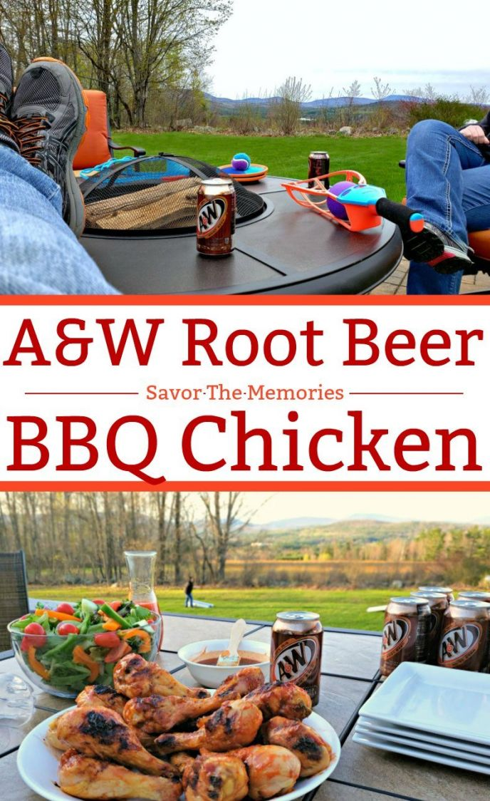 Root Beer BBQ Sauce! This delicious barbecue sauce made with A&W root beer is sweet and delicious. Everyone will love enjoying backyard barbecues with this easy to make root beer BBQ sauce!
