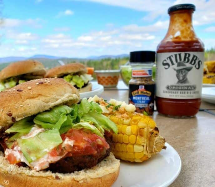 Taco night recipe for taco burgers on the barbecue grill.
