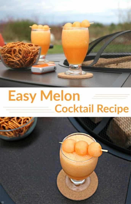 A delicious melon cocktail recipe with melon balls for garnish!