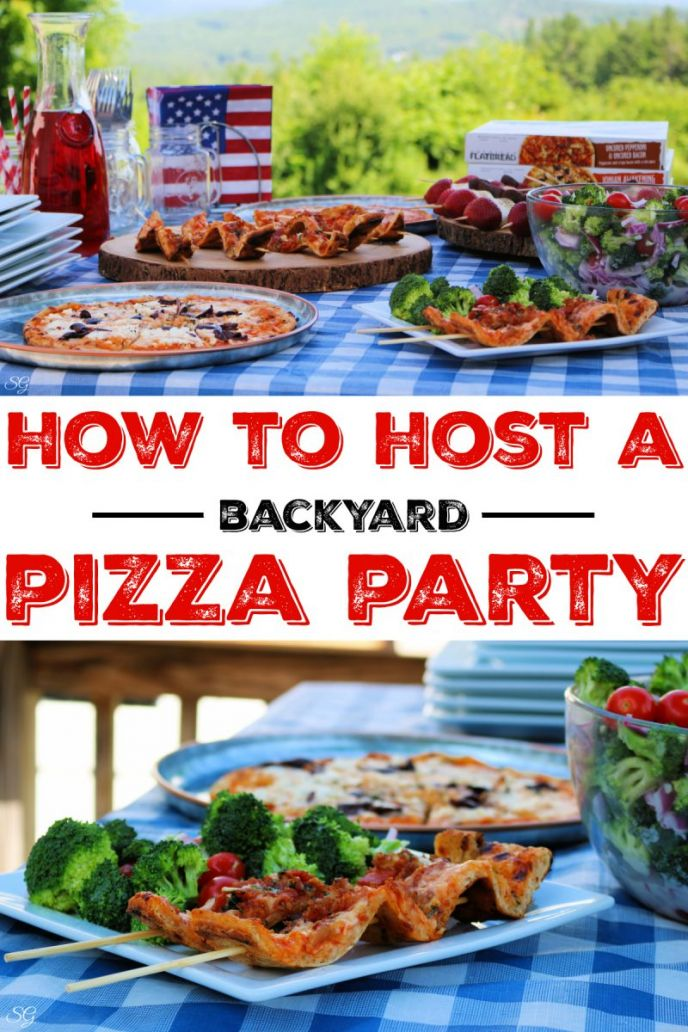 Backyard pizza party! Host a backyard pizza party with American Flatbread pizzas on the grill and an easy broccoli salad recipe!