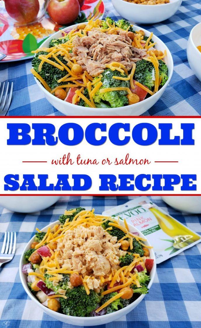 Easy broccoli salad recipe with StarKist Selects E.V.O.O. tuna fish or pink salmon!