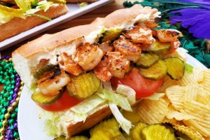 Garlic Shrimp Po'Boys Made On The Grill