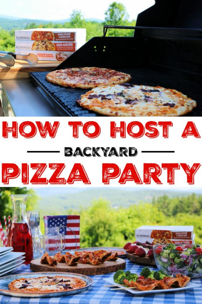How to host a backyard pizza party with grilled pizza and broccoli salad!