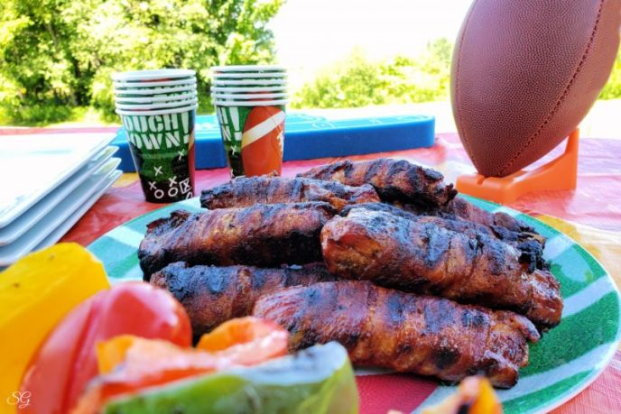Delicious grilled BBQ bacon wrapped ribs recipe. #MakeEasyMoreInteresting #SimplyHatfield