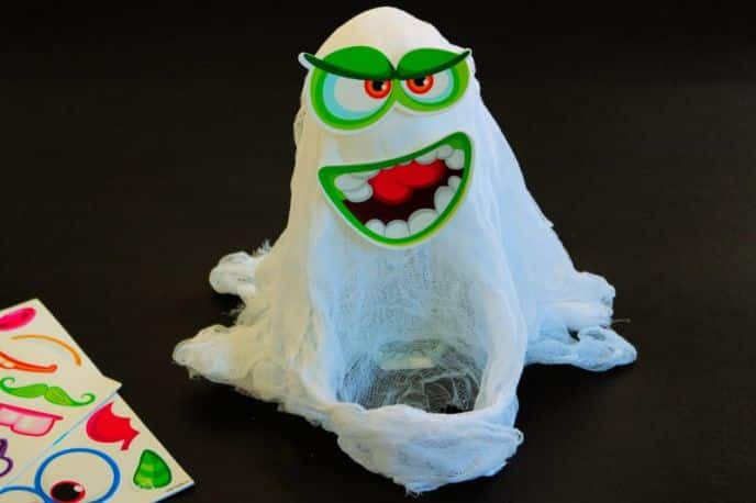 Silly Cheesecloth Ghost DIY tutorial