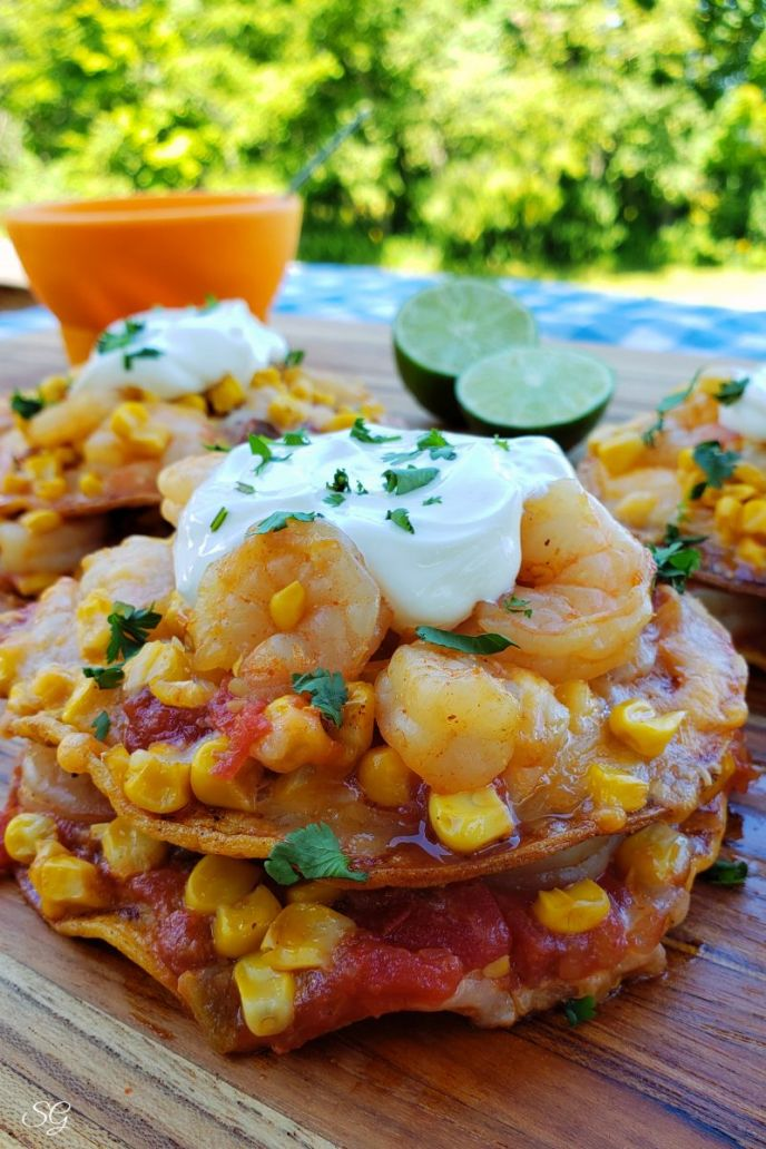 Easy crunchy shrimp tostadas recipe!