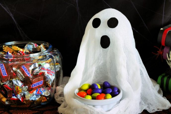 Ghost candy dish DIY project