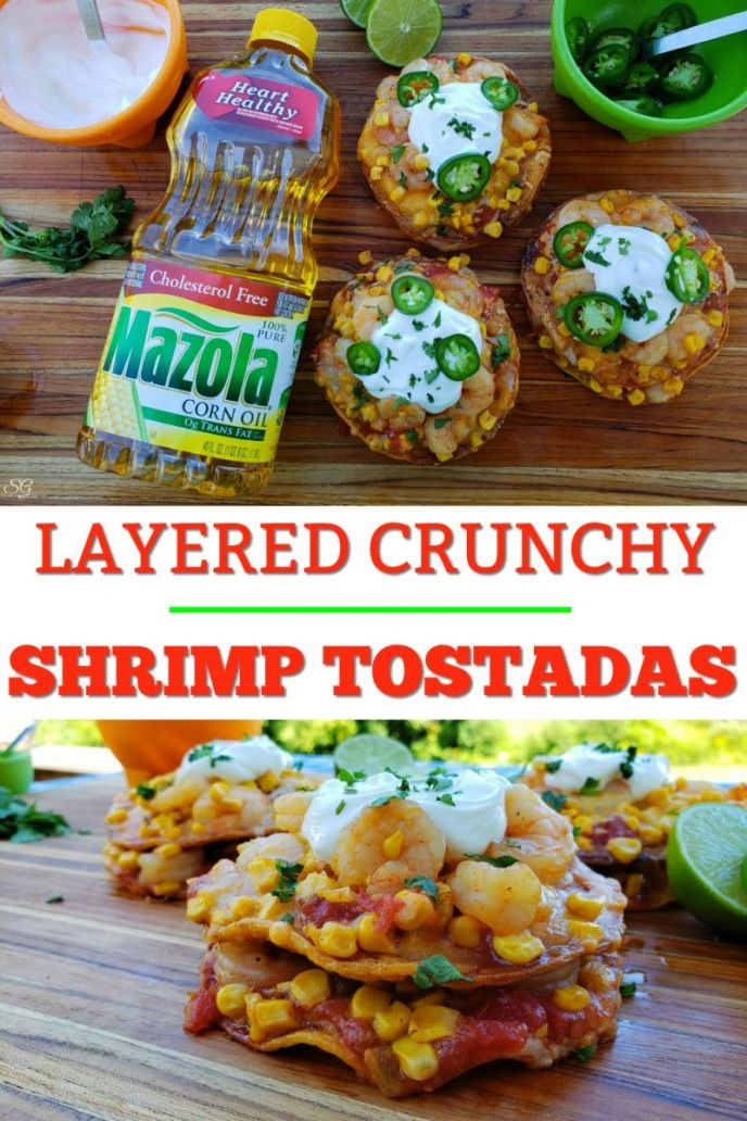 Layered Crunchy Shrimp Tostadas - an Easy and Delicious Mexican Recipe