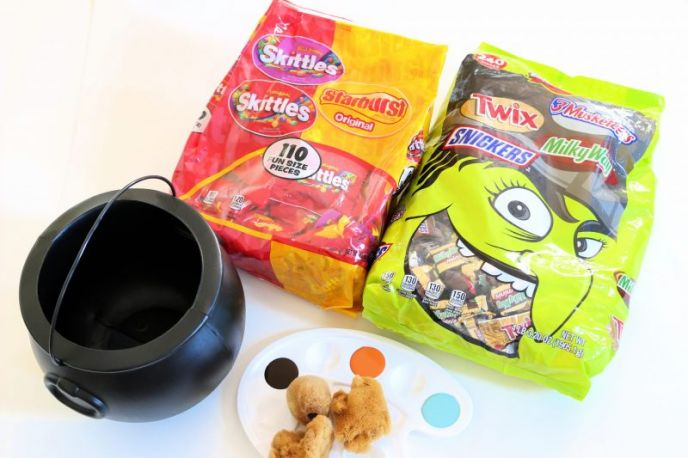 DIY Halloween Rusty Cauldron Materials