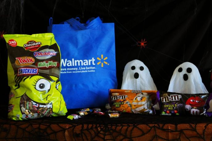 Witch bag candies from Walmart