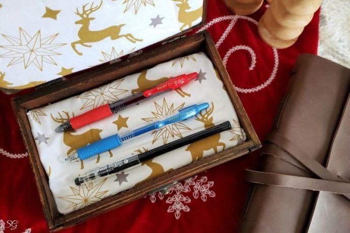 Gift pen box idea to hold pens.