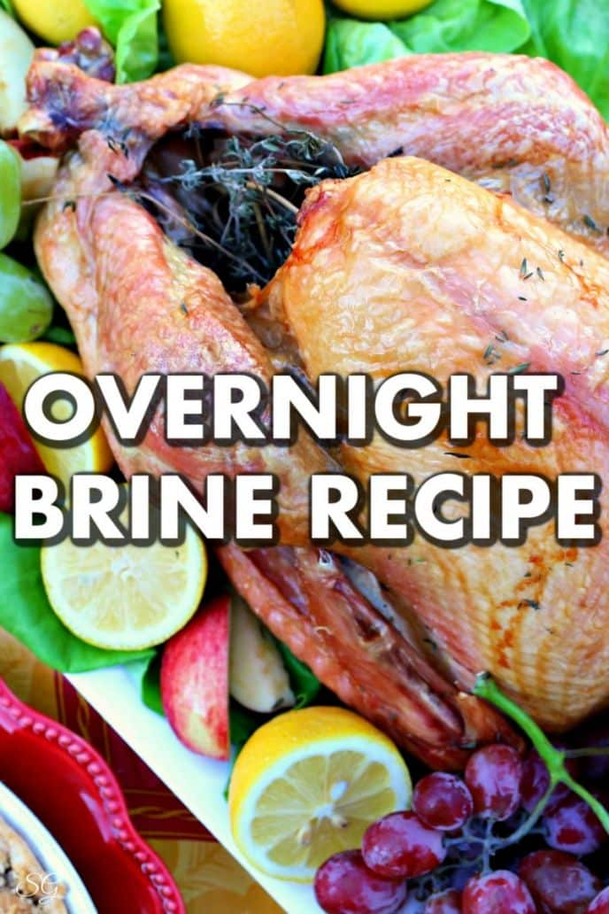 How to brine a Thanksgiving turkey overnight with easy recipe and ingredients