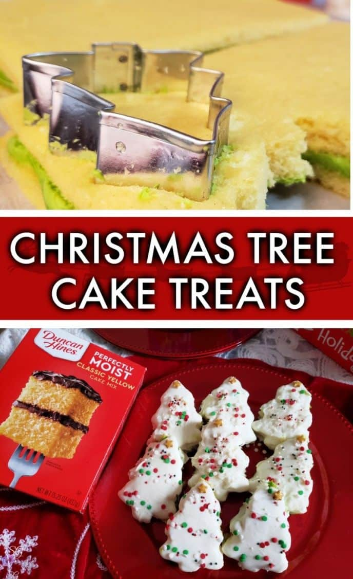 Christmas Tree Cakes - Handheld Snack Treat Desserts for Holiday Parties! #DuncanHinesHoliday