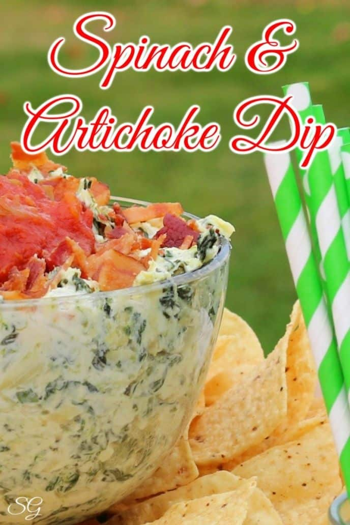 Spinach Artichoke Dip - Hot, Baked, Cheesy, Creamy Spinach Artichoke Dips Recipe